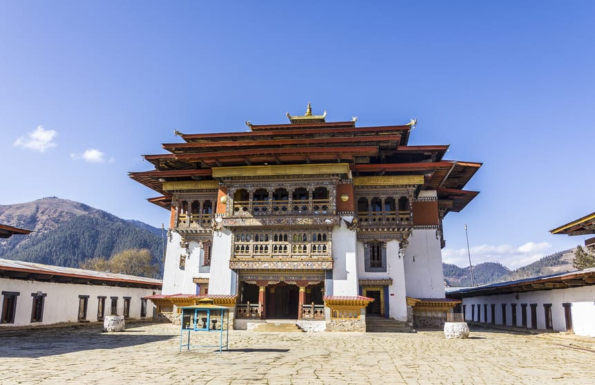 Bhutan Gantey Kloster